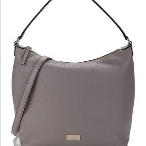 Kate spade kaia prospect place gray leather purse